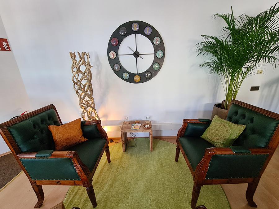 Setting für Einzeltherapie in der Praxis Eisenstadt